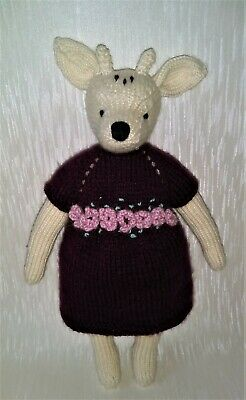 Hand Knitted Deer Doll/knitted/soft Animal /soft Toy/stuffed Toy • 20£
