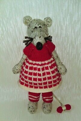 Hand Knitted Mouse/knitted/soft Animal /soft Toy/stuffed Toy • 25£