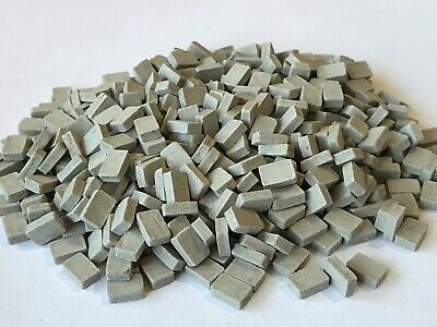 1/35 150 GREY Paving Cobbles L8.5W5.5H2.5 Warhammer Wargames Scenery Building • 6£