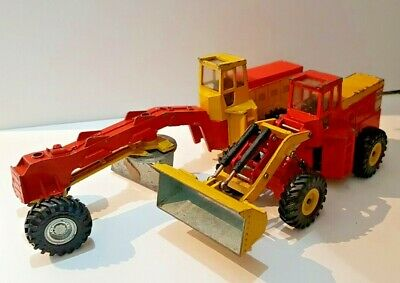 Dinky 973 Tractor Shovel & 938 Road Grader. Good With Play Wear • 34.99£