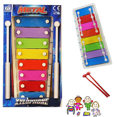 Xylophone Mini Metal Musical Piano Instrument Education Development Kids Child T • 4.15£