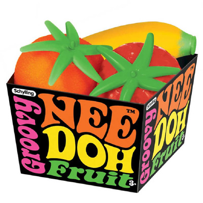 Schylling Groovy Nee-doh Fruit - Sc-gfnd Stress Ball Knead Squeeze Soothe Relief • 5.99£