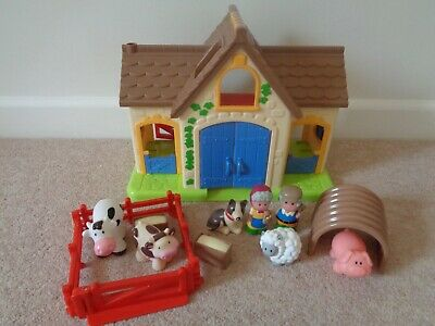 ELC Happyland Goose Feather Farm With Sounds Animals And Figures • 18£