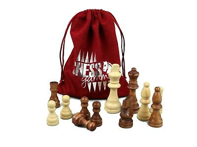 Wooden Chess Pieces For Chess Set Chessmen Chess Handcrafted For Chess Board  • 24.99£