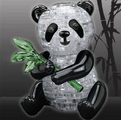 3D Cute Panda Crystal Puzzle 57 Numbered Jigsaw Pieces Brain Teaser Boxed  • 8.45£