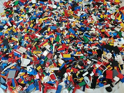 Genuine Lego Bundle 1kg-1000g Mixed Bricks Parts Pieces. Job Lot +2 Figures  • 21.99£