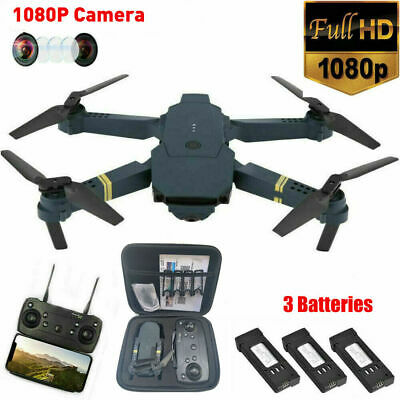 Drone X Pro WIFI FPV 1080P HD Camera 3 Batteries Foldable Selfie RC Quadcopter • 35.99£