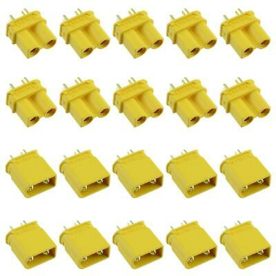 10 Pairs Male + Female XT30U Gold Plated Connector 15A Amass • 5.99£