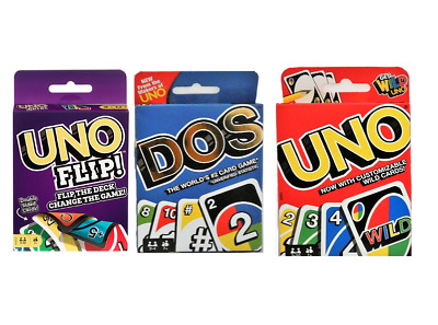 Dos/uno/flip Card Game From The Makers Of Uno Mattel Sealed Pack New Uk • 3.39£