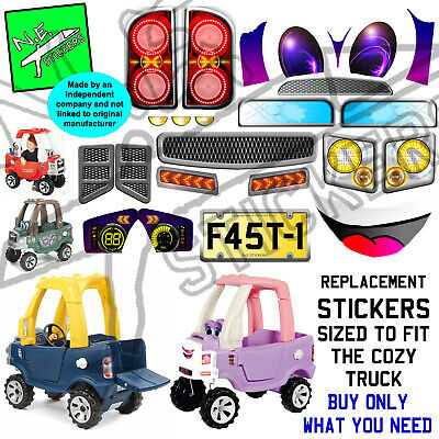 Replacement Stickers SIZED TO FIT Little Tikes Cozy Truck Ride On Toy Pickup Car • 9.94£