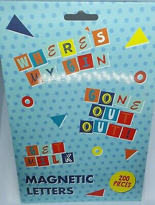 Magnetic Fridge Letters - 200 Pieces • 2.99£