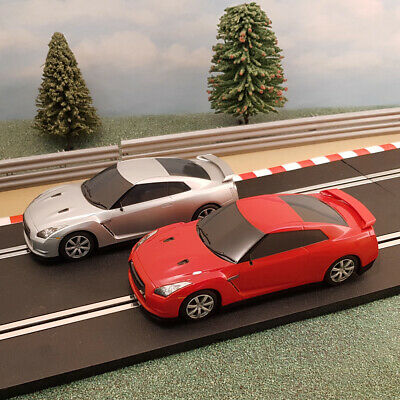 Scalextric 1:32 Pair Of Drift Cars - Red & Silver Nissan GTR #M • 24.99£