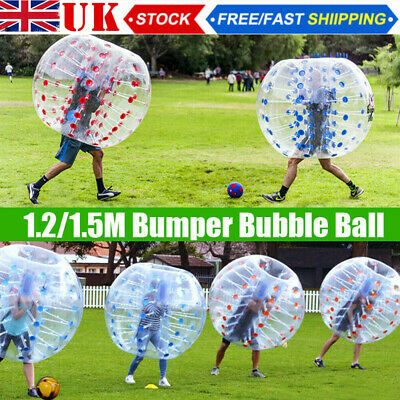 1.5M/1.2M Bumper Inflatable Ball Body Zorbing Zorb Football Bubble Soccer  Gifts • 68.98£