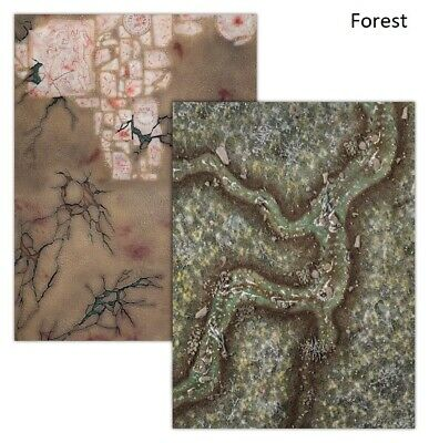 - FOREST GAMING BOARD (reversible) - Souldrain Jungle Mat Swamp Warcry Warhammer • 15.99£