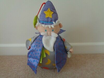Vintage Boots Woobly Wizard Roly Poly Weeble  With Chime 13.5 Inches Tall • 7.50£