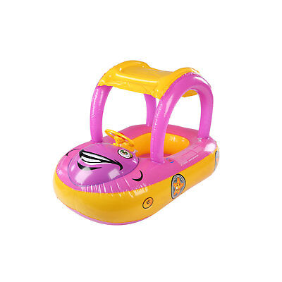 Kids Inflatable Baby Float Seat Boat Car Sun Shade Water Swimming Pool Canopy • 6.99£
