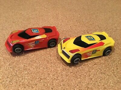 "Micro Scalextric 1:64  Cars.   "" Cars Have Magnatraction "" • 14.75£"