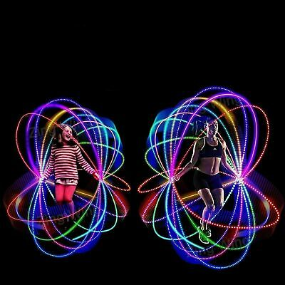 Kids Skipping Rope With LED Light Children Exercise Jumping Fitness Activity • 8.99£