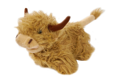 Highland Cow Soft Toy Mooing Sound Effect Scottish Gift Souvenir NEW • 15.99£