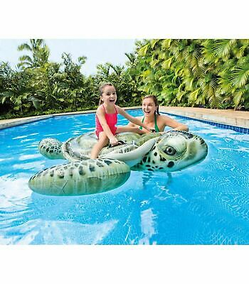 Inflatable Ride On Swimming Pool Beach Toy Float Rider Lilo • 16.39£