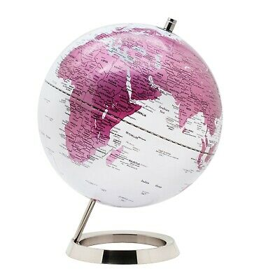 Exerz Educational Swivel World Globe Desktop Globe Dia 25CM Pink  • 31.99£