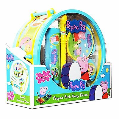 Unibos Peppa Pig Pack Away Drum Musical Set For Kids  • 11.95£