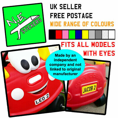 Private Number Plate Stickers TO FIT Little Tikes COZY COUPE Ride On Kids Car  • 2.35£