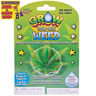 Grow Your Own Weed ~ Cannabis Joke Novelty ~ Funny Stoner Gift Stocking Filler • 2.75£