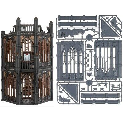 - GOTHIC TOWER WALLS - Sector Imperialis Battle Sanctum Large Long Warhammer 40k • 14.99£