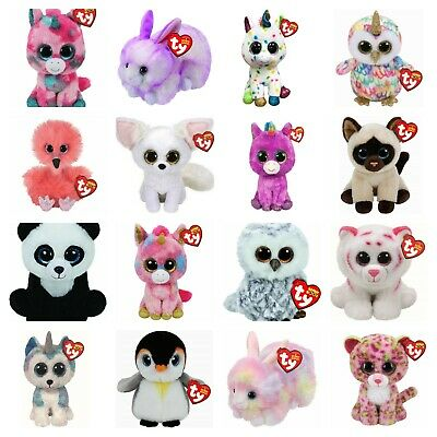 Ty Beanie Boo Babies Plush Soft Toy Big Eyes New Official With Tags Teddy Reg • 5.99£
