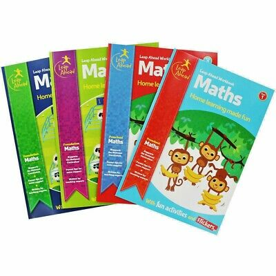 New Leap Ahead Educational Books Children Maths English 3 To 11 Multibuy 25% Off • 2.99£