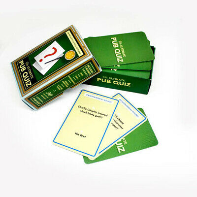 Ultimate Pub Quiz Cards Questions & Answer Trivia Party Games Novelty Fun Family • 7.85£