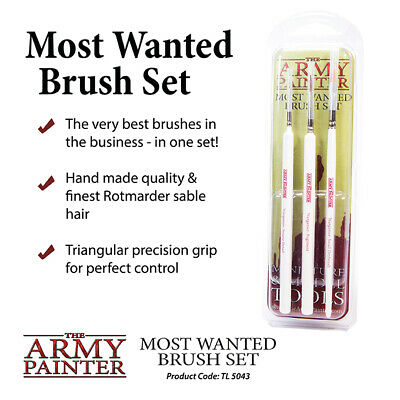 The Army Painter Most Wanted (3 Piece) Brush Set TL5043 • 12.99£