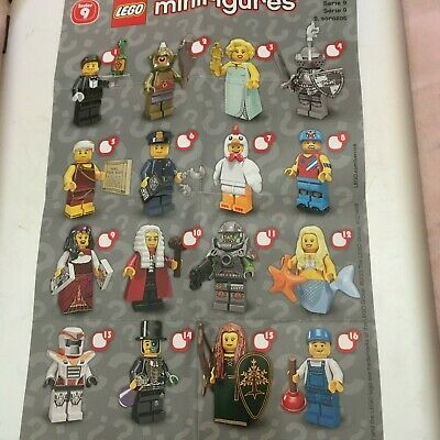 Genuine Lego Minifigures From  Series 9 Choose The One You Need • 9.99£