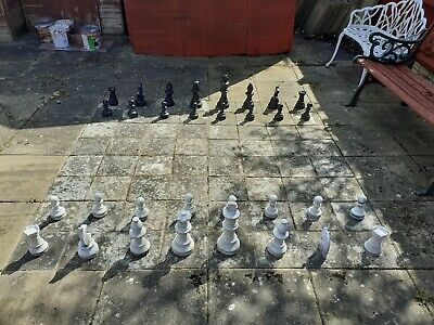 Patio Plastic Chess Pieces King 12 Inches Tall • 45£