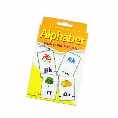 ALPHABET 36 Pieces Ages 4-6 Years Flash Cards For Kindergarten Toddlers Preschoo • 2.99£