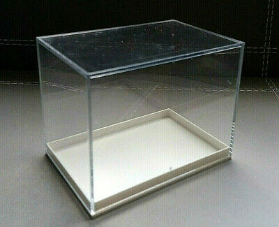Miniature Clear Acrylic Display Box With White Base • 4£