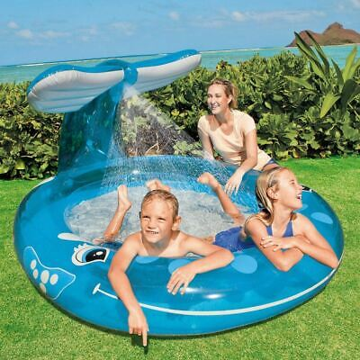 Intex Play Inflatable Whale Spray Splash Childrens Paddling Swimming Pool 6np • 23.59£