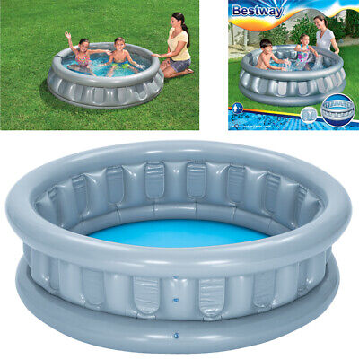 Inflatable Spaceship Children Kids Outdoor Garden Swimming Paddling Splash Pool • 16.95£