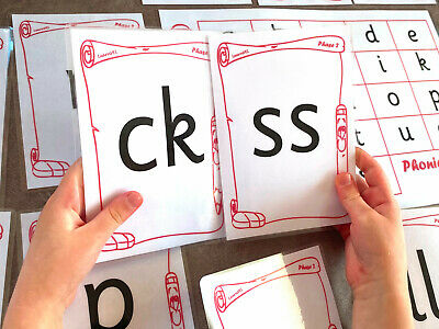 Phase 2 Phonics Large Flash Cards EYFS Sounds Diagraphs + Mat Early Learning  • 4.99£