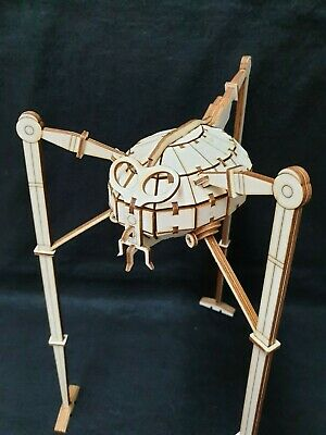 War Of The Worlds Tripod By HG Wells Wooden Laser Cut Model/Puzzle Kit • 18.99£