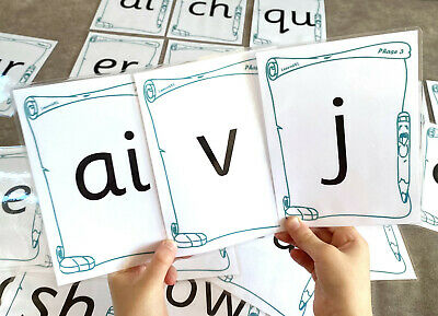 Phase 3 Phonics Large Flash Cards EYFS Sounds Diagraphs + Mat Early Learning  • 5.39£