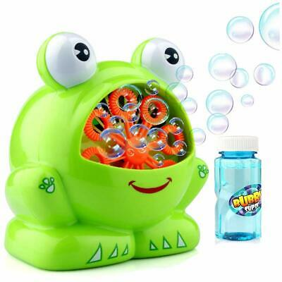 Kids Portable Bubble Machine, Bubble Making Toy With Bottle Of Liquid • 10.39£