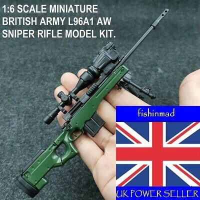 1:6 Miniature Firearm Collectors British Army L96a1 Aw Sniper Rifle Model Kit • 4.95£