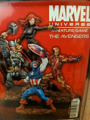 Marvel Knight Miniatures Game The Avengers Iron Man, Black Widow, Thor. • 50£