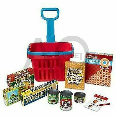 Melissa And Doug Grocery Basket Pretend Play Toy With Heavy Gauge Steel New • 14.99£