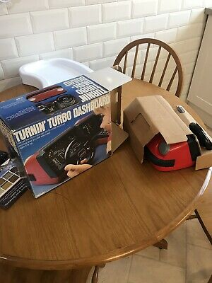 Tomy Turnin' Turbo Dashboard Boxed Classic Rare 1980 Toys Collector Battery • 315£