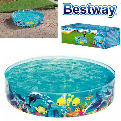 Bestway 6ft Rigid Childrens Kids Summer Fun Garden Swimming Paddling Splash Pool • 24.95£