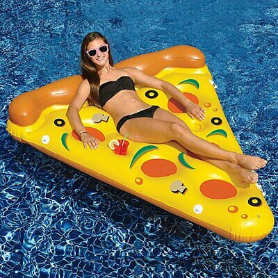 Giant Inflatable Pizza Slice Pool Float Beach Lounger Lilo Swimming Pool Float • 13.99£