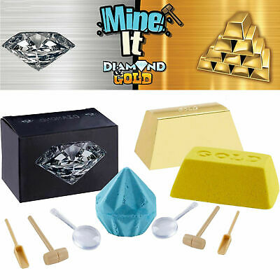 Mine It! Diamond Or Gold - 1 Box In 24 Has Real Diamond Or Gold Kids Toy • 8.99£